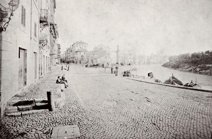 1877, Via di Ripetta col Porto omonimo.