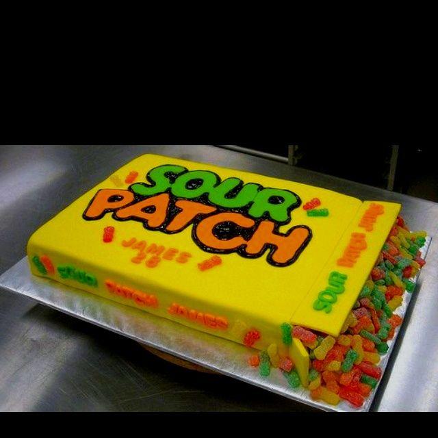 Sour Patch Kids Cake cakepins.com