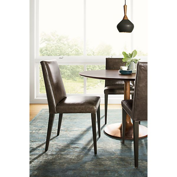 Ava Leather Dining Chairs - Modern Dining Chairs - Modern Dining Room Furniture - Room