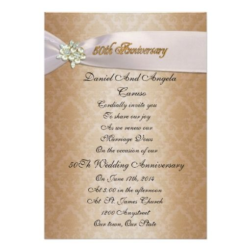 Best Th Anniversary Vow Renewal Invitations Images On