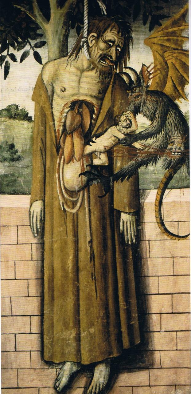 Giovanni Canavesio The Hanging of Judas  ca 1492