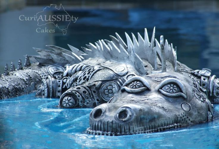 Steampunk Crocodile/ Alligator - Cake by curiAUSSIEty custom cakes: