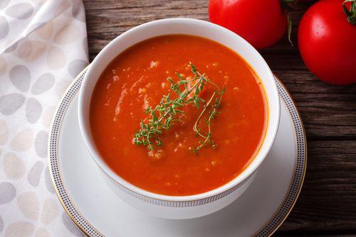 Sopa de tomate thermomix  #SopaDeTomateThermomix #RecetasThermomix #SopasYCremas #tomatosoup
