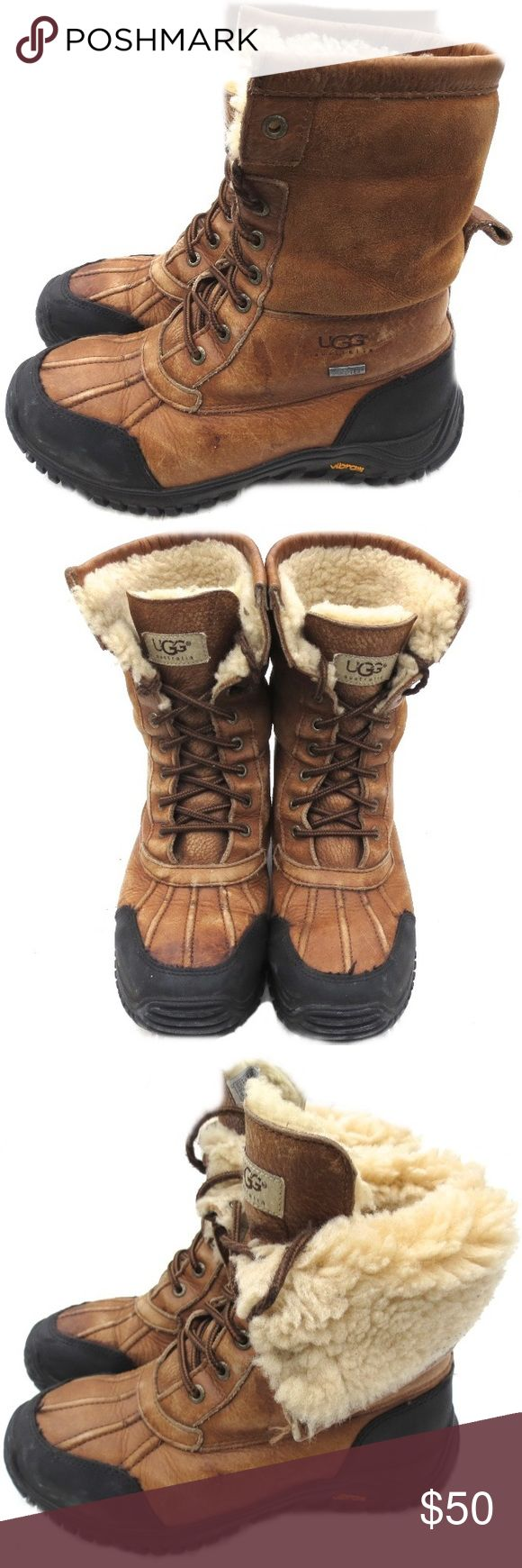 UGG Adirondack Leather Boots UGG Adirondack leather boots. Genuine brown leather. Size 8. They are in pre-owned condition with normal wear and tear. There are small scuff marks and darkened areas of the leather. Retails for $225.00! UGG Shoes Winter & Rain Boots