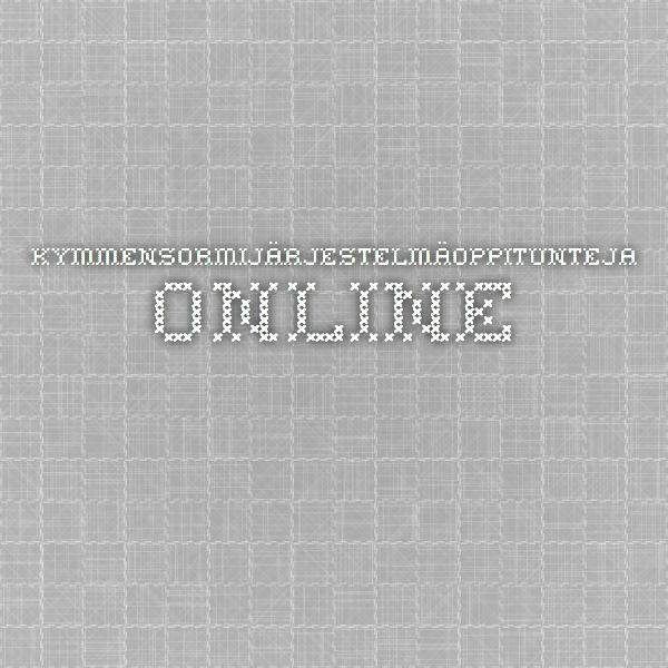 Kymmensormijärjestelmäoppitunteja online