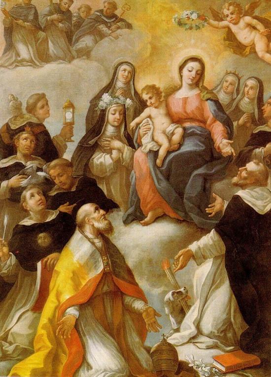 Virgen María con Niño Jesús, Santos Dominicos y San Sixto II, Papa y Mártir  (Basílica de San Sixto, Roma)