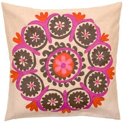 Vintage Uzbek Decorative Pillow #throwpillow #homedecor #accentpillow @LaylaGrayce: Orange Decor, Uzbek Decor, Suzani Pillows, Vintage Uzbek, Applique Pillows, Throw Pillows, Decor Pillows, Colors Pillows, Linens Appliques