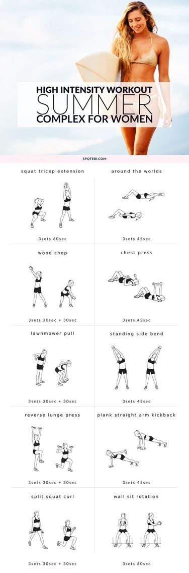 Summer cardio workout for women