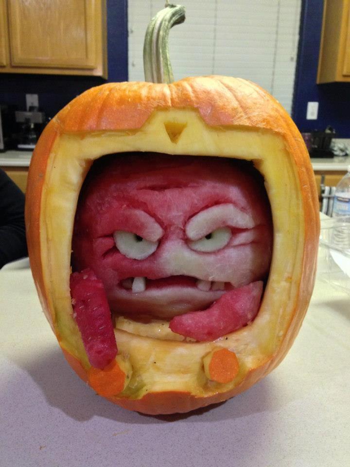 Krang (Ninja Turtles) Pumpkin Carving found on Facebook