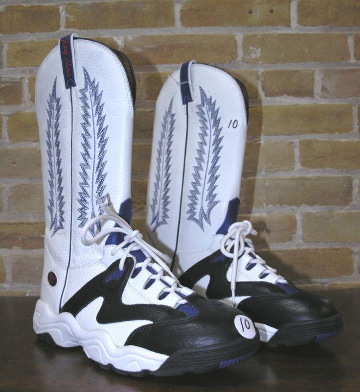 NWT Teny Lama by Tona Lama Tennis Shoes Cowboy Boots Blue White ...