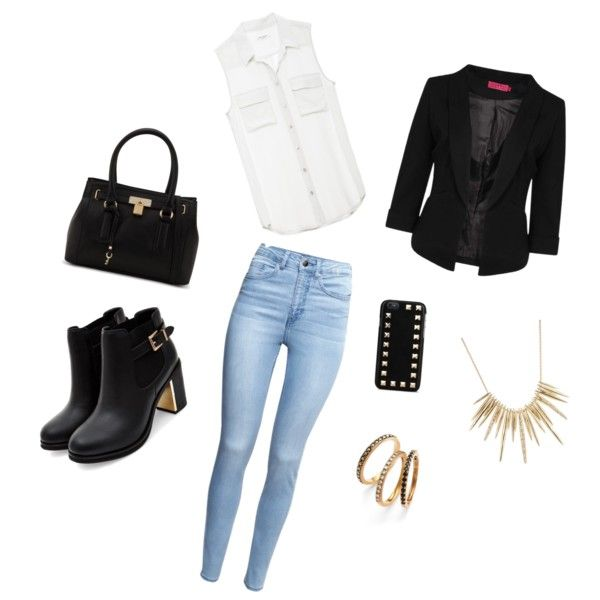 Casual oufit for fall by sostudd on Polyvore featuring Boohoo, H&M, ALDO, Alexis Bittar, Judith Jack and Valentino