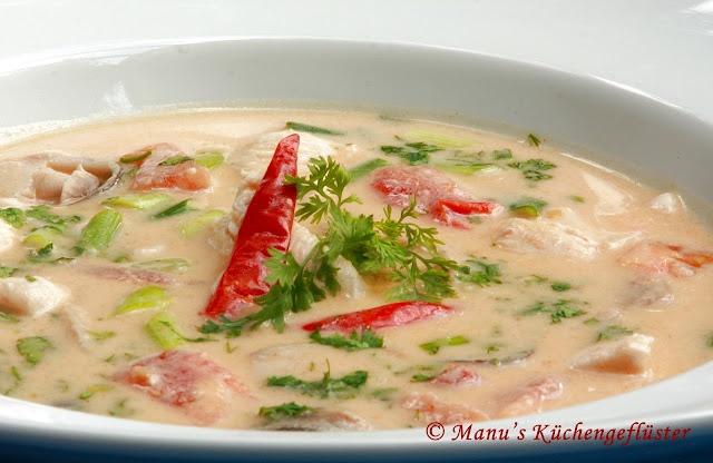 Toma Kha Gai - thailändische Kokossuppe