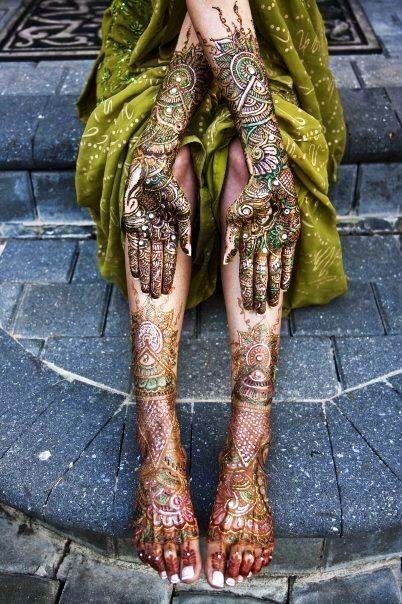 After looking at this photo we will discuss what it is that is on her hands and feet and will look at other examples. We will then discuss other cultures who do things similar to this and the different occasions or celebrations this may occur during.