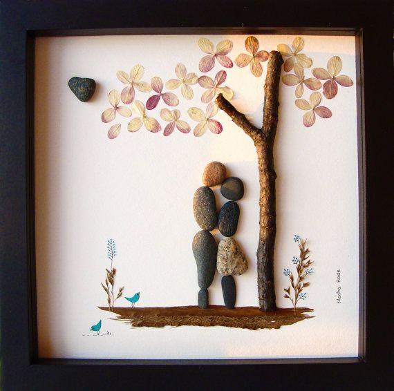 Unique WEDDING Gift Customized Wedding Gift Pebble Art Unique Engagement Gift Wedding Art