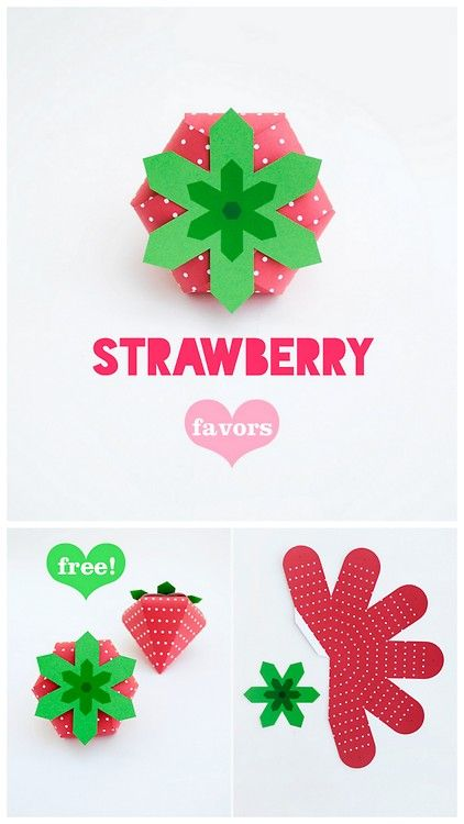 diy strawberry box printable from oh happy day here