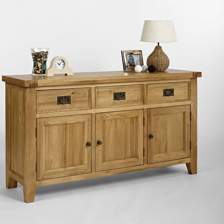 Elegance Solid Oak Sideboard / Buffet (Buffet Only)  (Sizes Small , Medium) -  - Sideboard - Ametis - Space & Shape - 4