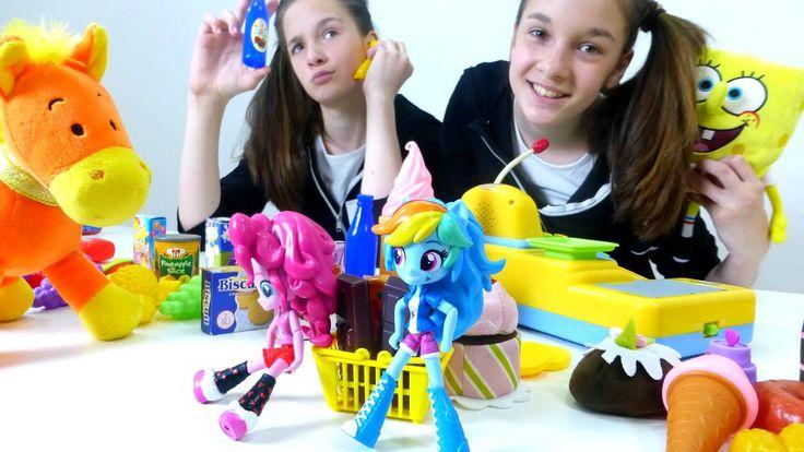 Пинки Пай и Рейнбоу Дэш в Супермаркете! Смешное видео с игрушками Эквест...