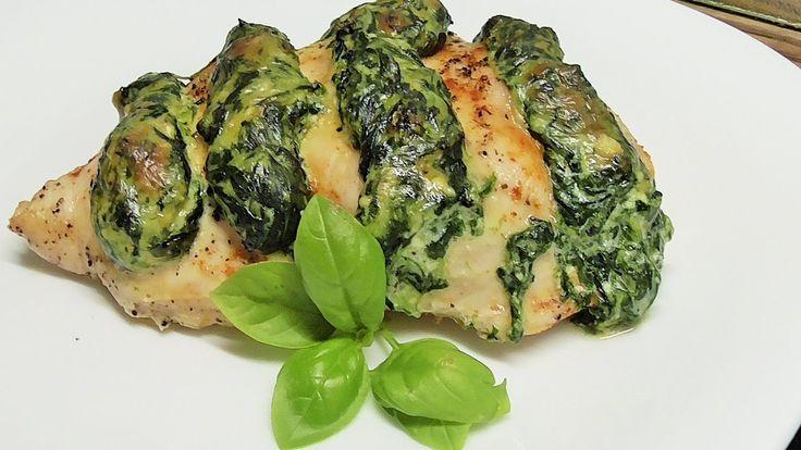 Piersi z kurczaka ze szpinakiem  i ricotta /Kasia ze slaska gotuje