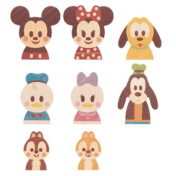 Disneyキャラクターの木製玩具シリーズDisney KIDEAの【ミッキー&フレンズ】。
