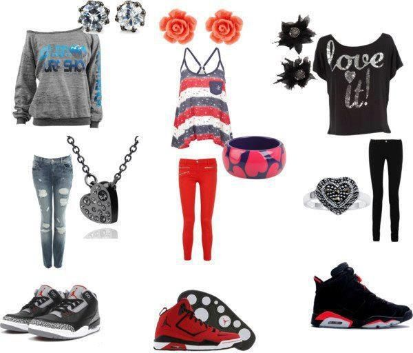 Cute outfits paired with Jordan's