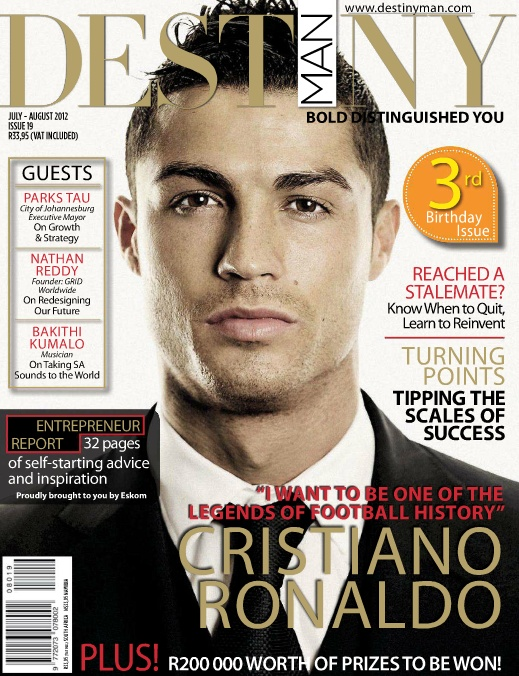 Cristiano Ronaldo covers Destiny Man South Africa - July/August 2012