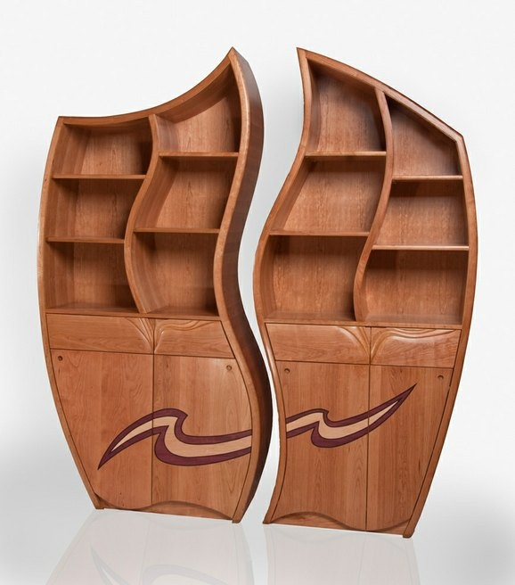 His and Hers Wavy Cabinets by Jeremy London Eric likes  Woodworking  FurnitureWooden. 8 best Furniture dimensions images on Pinterest   Desk dimensions