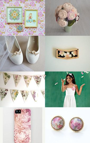 Summer full of flowers by HuesShop on Etsy--Pinned with TreasuryPin.com