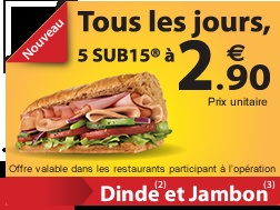 Subway menu in France vs. Québec; many examples of cultural differences re: food simply in the translation of basic items (sub vs. sous-marin, menu vs. trio)