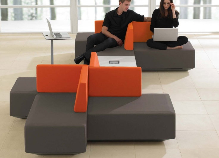 commercial modular upholstered bench DNA Teknion | Furniture ...