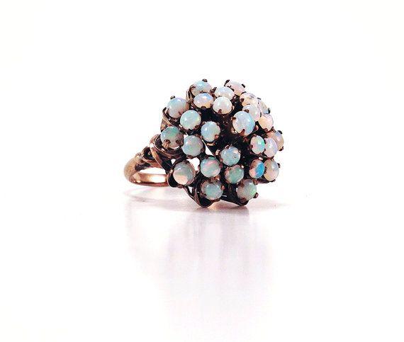 Antique Fantasy Opal & 10K Gold Ring Size 65 by baileysbizarre, $54.95