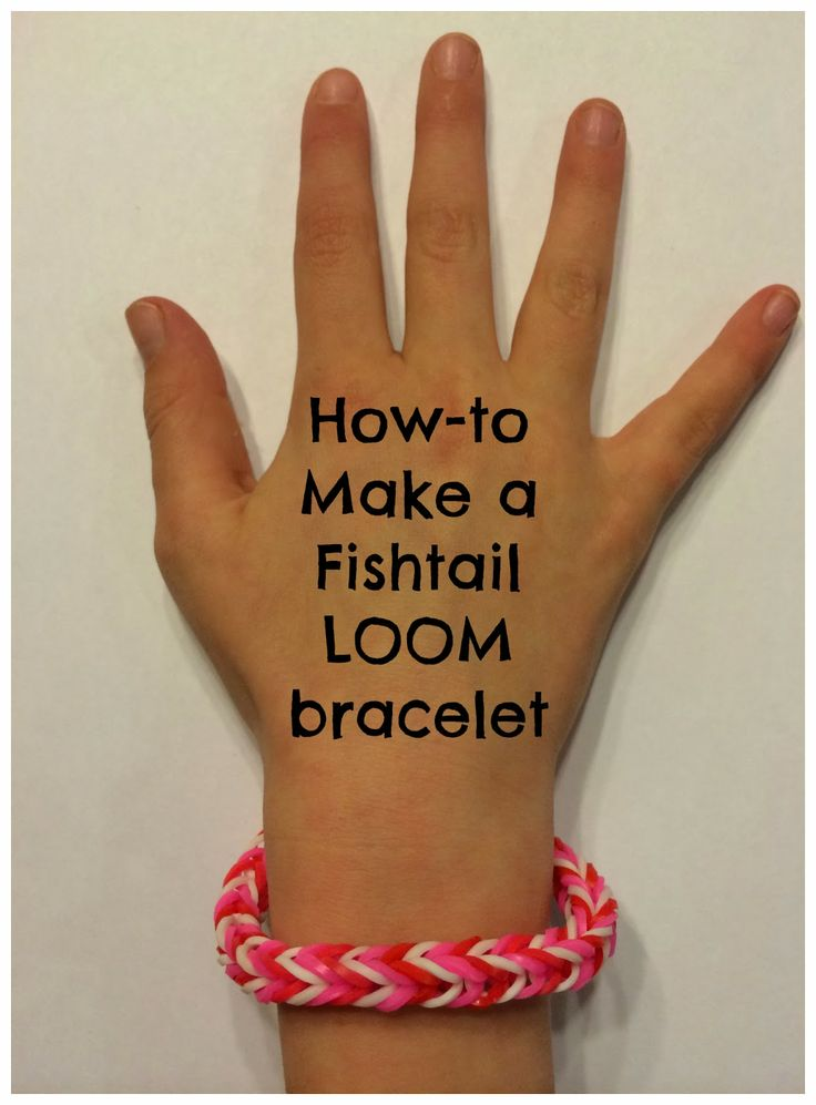 How to make a Fishtail #Loom Bracelet- Step by Step Photo Instructions