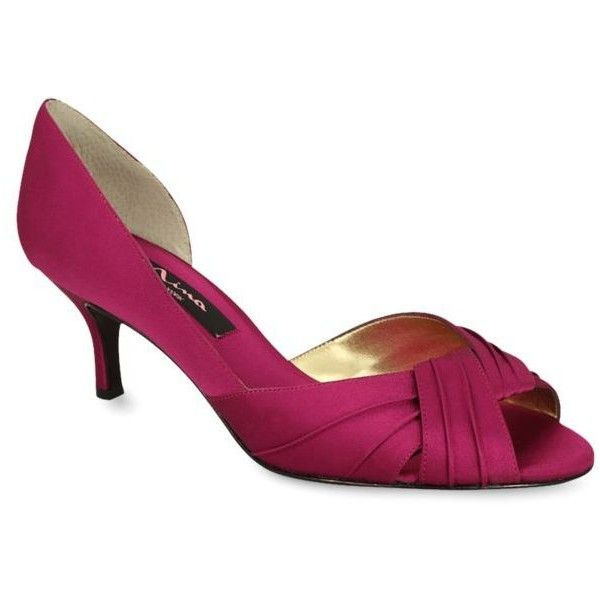 Nina Fuschia Culver Pump - Women's ($85) ❤ liked on Polyvore featuring  shoes,