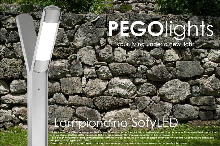 SofyLED, lampioncino da esterni. Ideale per l'illuminazione del tuo giardino e degli esterni della tua casa. Alta efficienza e bassi consumi grazie alla tecnologia led. Resistente alle basse temperature, anche estreme (fino a -30°C).