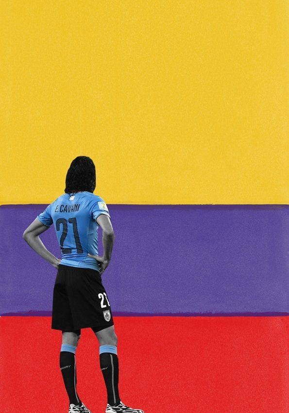 Josh Natanson represents Uruguay in the 326490.com creative world cup challenge Uruguay 0-2 Colobia