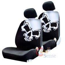 Skulls Car Seat Covers Set - Low Back Auto Accessories