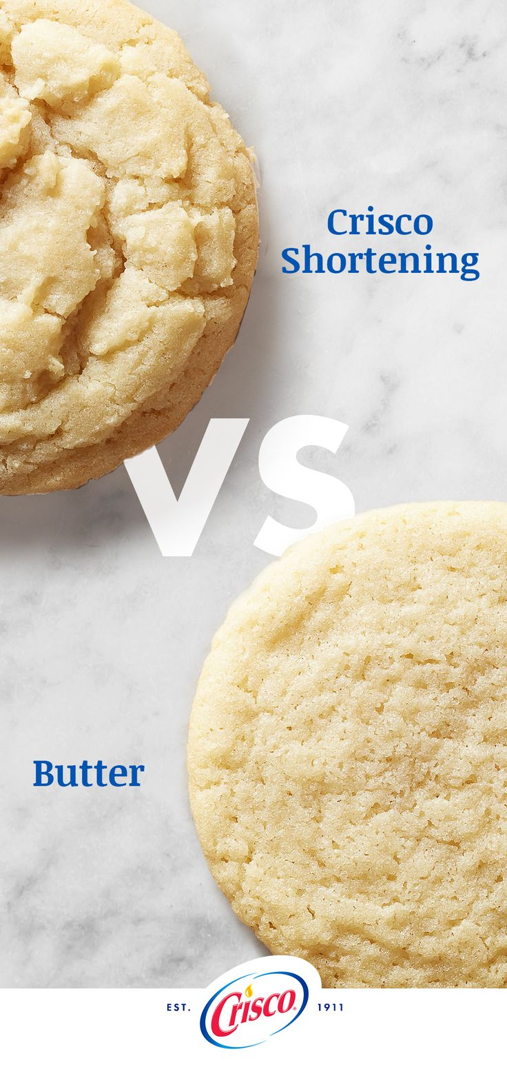 We compared sugar cookie recipes using our All-Vegetable Shortening instead of butter. What did we find? Baking with our shortening results in softer, more tender baked cookies.