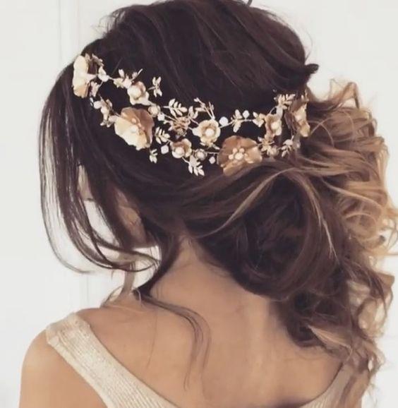 Featured Hairstyle: Ulyana Aster www.ulyanaaster.com; Wedding hairstyle idea.