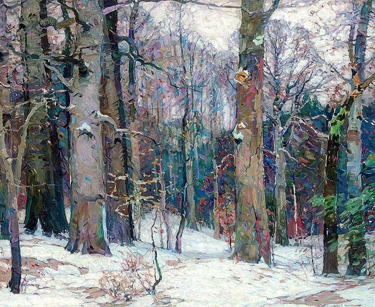 "John F. Carlson, (1874-1945) American ""Forest silence"" - oil on canvas  ... beautiful painting of trees. This always inspires me!"