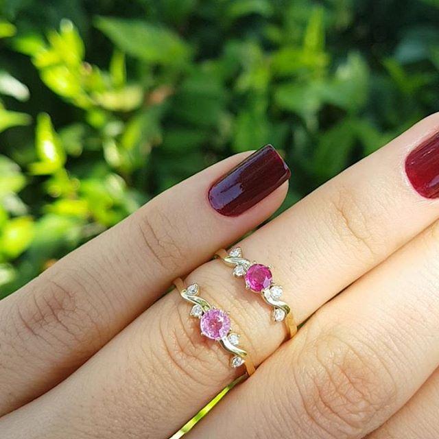 f1047fa64f1df Aneis Belle inspirados no filme a Bela e a Fera. Opcões em safira rosa e  Rubi