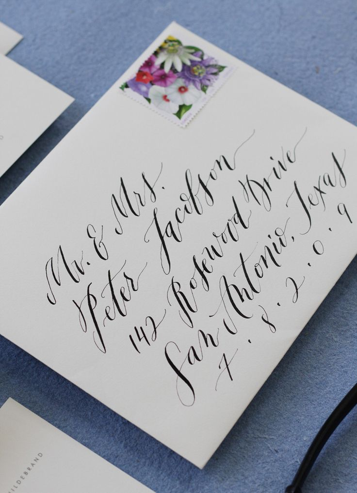 Envelope Address Lettering Calligraphy Pinterest