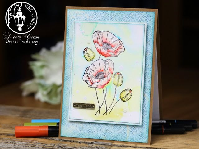 poppy stamp card