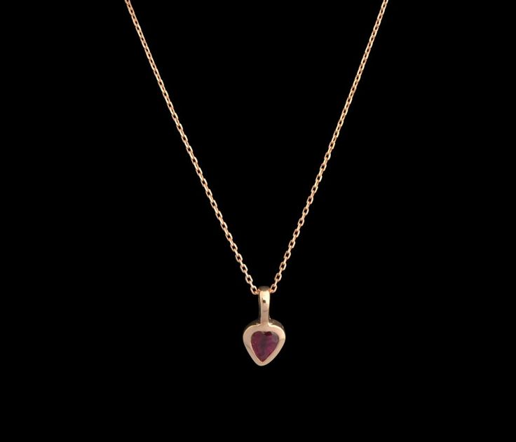 #burma #ruby #heart #shaped #rosegold #gold #pendant #fine #jewellery