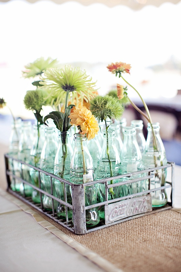 Glass jar centerpieces wedding decor ideas pinterest