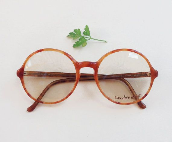 French Vintage Frames / 80s rounded designer hipster by Skomoroki