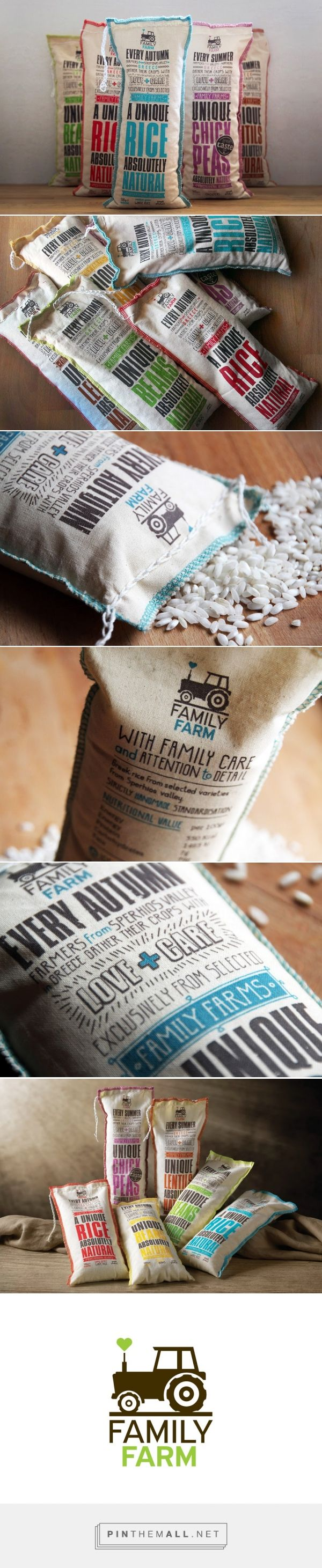 Family Farm agricultural products packaging design by Susami (Greece) - http://www.packagingoftheworld.com/2016/05/family-farm.html