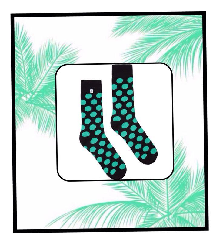 Mint dots socks