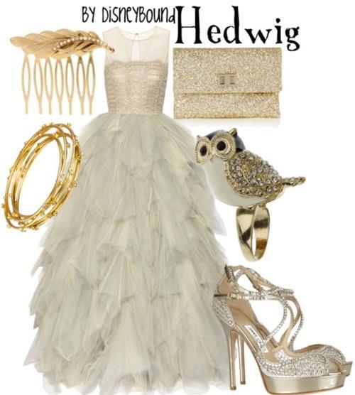disneyBound: Inspiration Outfits, Wedding Dressses, Wedding Dresses, Owl, Harry Potter, Prom Dresses, Disneybound, Disney Bound, The Dresses