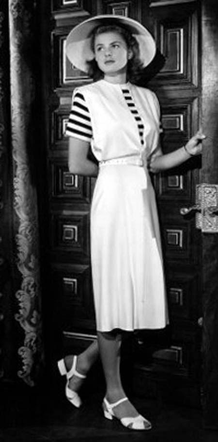 Remembering Ingrid Bergman Just Like It Fashion 1940s