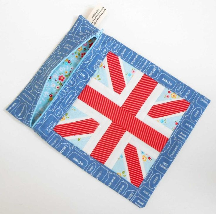 Looking for quilting project inspiration? Check out Union Jack Zip Pouch by member The Patchsmith.