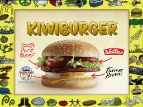 McDonalds Kiwiburger Advert - Original - YouTube